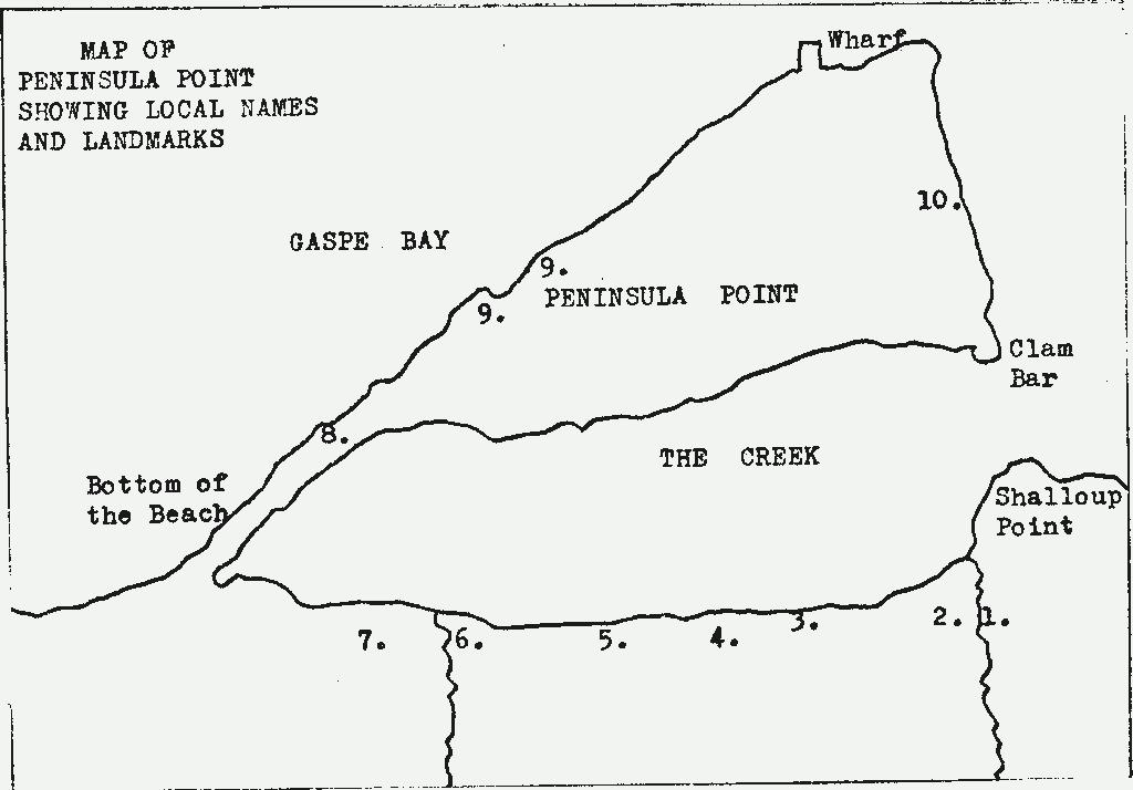 Sketch of peninsula